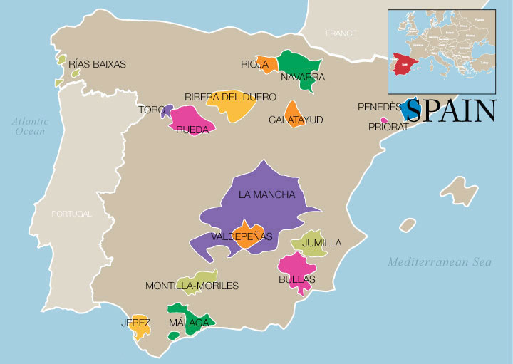 Ideas Map Of The Regions Of Spain On Emergingartspdxcom - Spain regions map