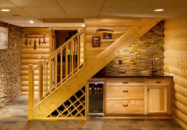 Click to enlarge image a-wine-storage-staircase.jpg Wine storage in a basement or dark hall closet usually works best. Under a staircase is a good use of ... & Wine Storage