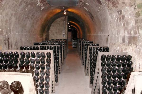 Champagne cave in Rhemes France